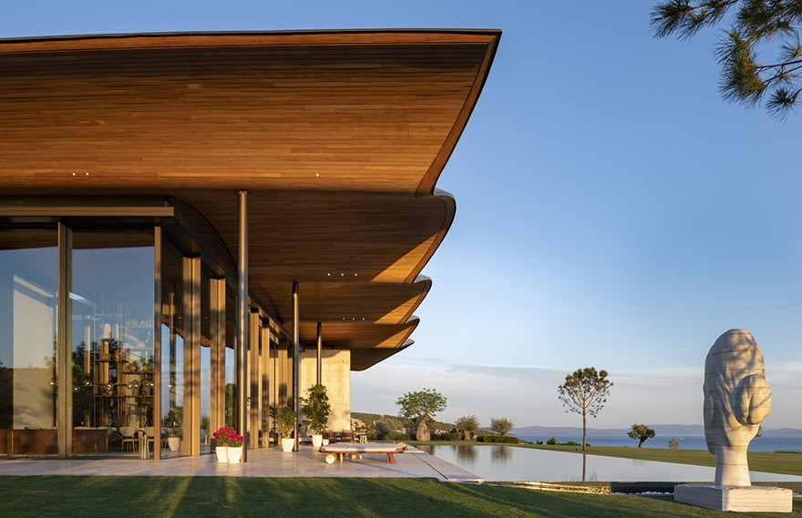Foster + Partners | Dolunay Villa,Modern Chic Seaside House