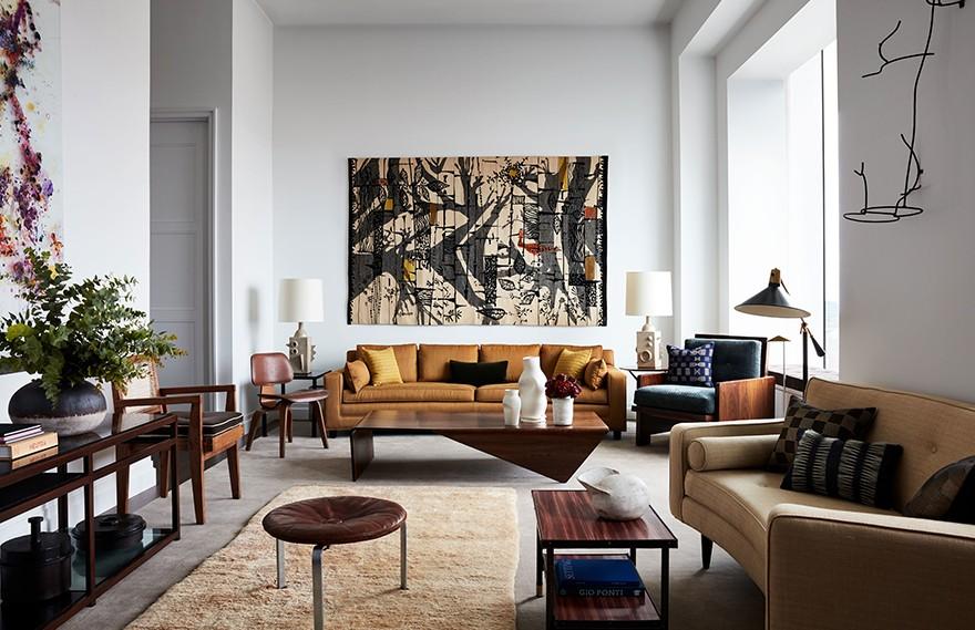 Andre Mellone | Park Avenue Tower , 温馨舒适的中性公寓